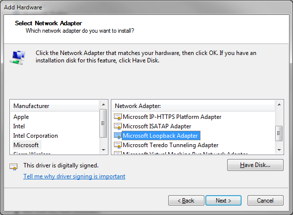 Vista microsoft driver for isatap adapter 3