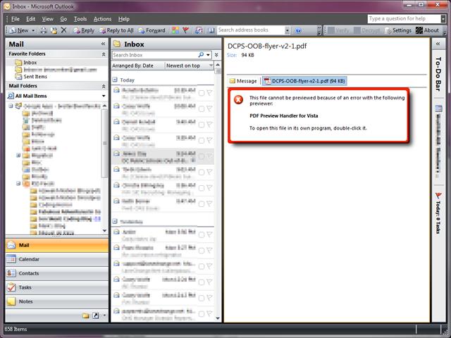 Adobe Pdf Preview Handler Outlook 2007