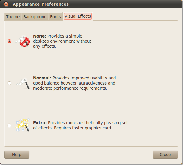 ubuntu-disable-effects