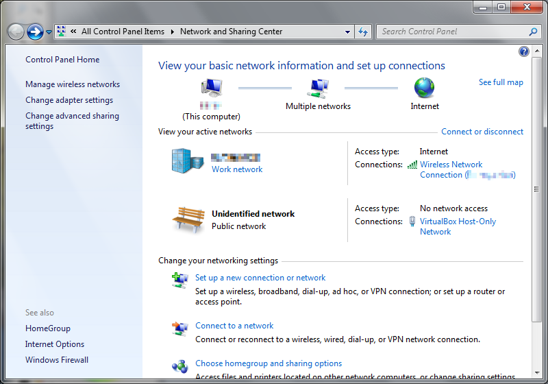 virtualbox host only network missing