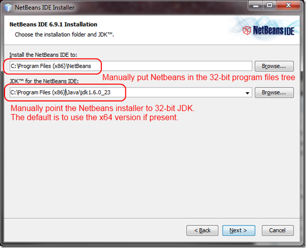 netbeans-32-bit-sdk-override